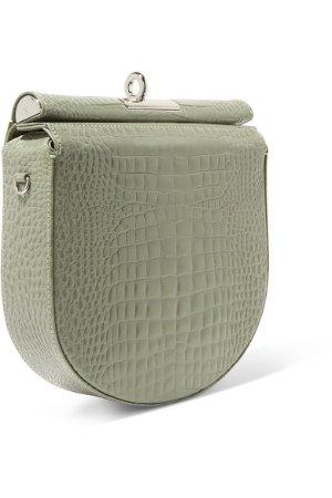Gu_de | Demi Lune croc-effect leather shoulder bag | NET-A-PORTER.COM