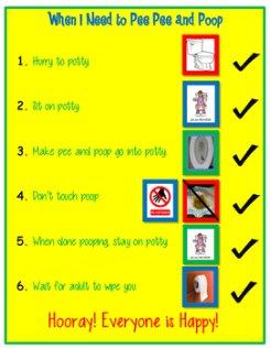 Poop in Potty Vertical Schedule 打印素材