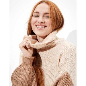 AEOAE Oversized Dreamspun Mock Neck Sweater