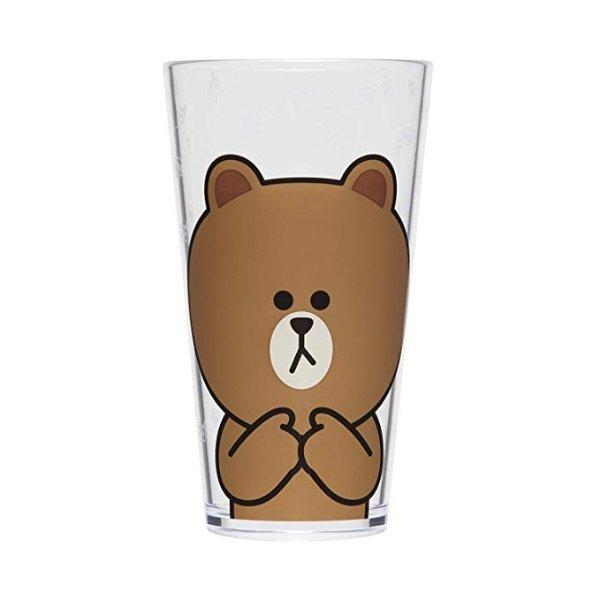 布朗熊 塑料水杯 18.5盎司 2个装