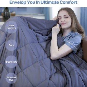 $61.5(原价$75.9)BUZIO 抗压抗焦虑重力毯限时热卖 香甜睡眠必备