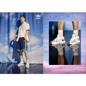 Adidas明星同款白色老爹鞋