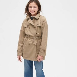 低至4折+额外5折 风衣$20GAP官网 儿童去服饰鞋履热卖 特价区也参加