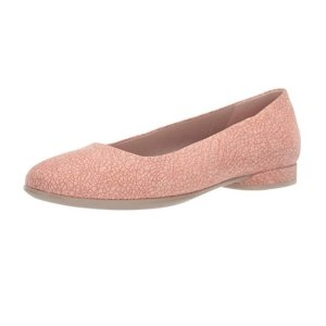 现价$36.95(原价$139.95) 7-8.5码ECCO 女士真皮 Anine 芭蕾平底鞋