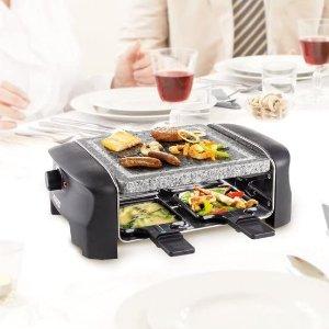 折后€26.99起 带不粘小锅Princess 多功能双层电烤盘热促 天然石材台面