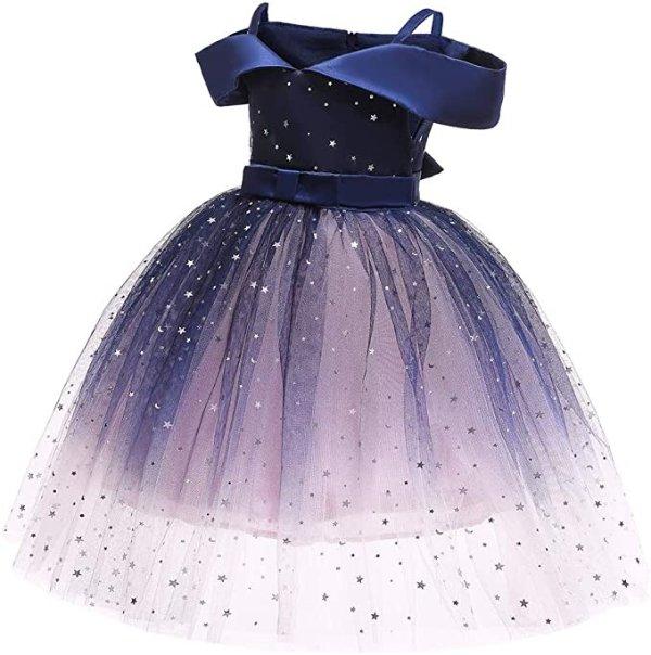儿童闪亮公主蓬蓬纱裙