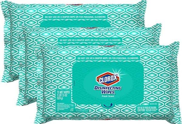 Clorox 消毒湿巾 75片 3包