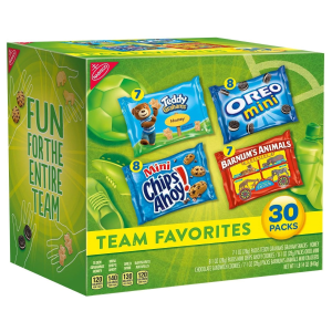 $6.00Nabisco Team Favorites Mix - Variety Pack with Cookies & Crackers, 30Count Box, 30 oz