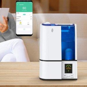 TaoTronics 智能带WIFI超声波冷雾静音加湿器,4L大容量