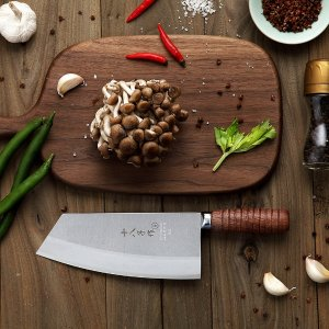 $23.92Chef Knife Chinese Cleaver Kitchen Knife Superior Class 7-inch Stainless Steel Knife with Ergonomic Design Comfortable Wooden Handle