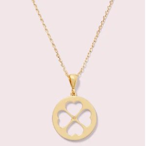 Kate Spadesymbols spade floral mini pendant