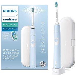 多色可选,现价£60(原价£179.99)Philips 飞利浦 4300 温和清洁款 电动牙刷特卖