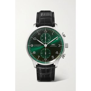 IWCPortugieser Automatic Chronograph 41mm stainless steel and alligator watch