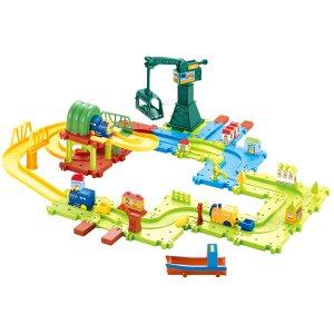 Hey! Play! 儿童轨道玩具套装,含电池驱动小火车等58个配件