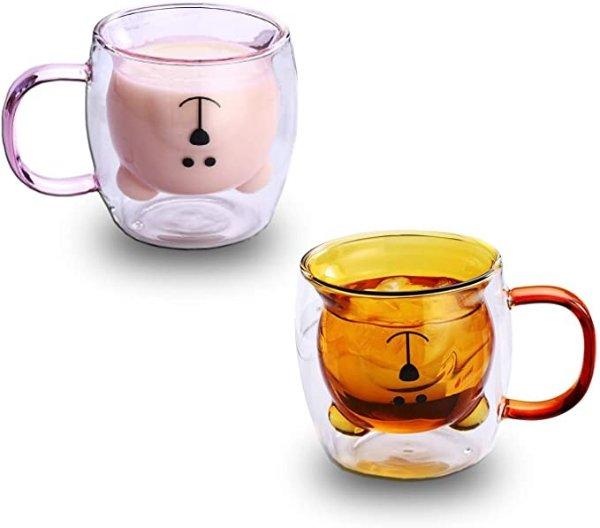 LINCMAN 双层玻璃杯 2只装