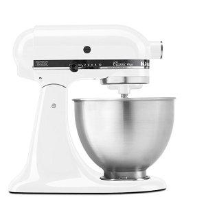 KitchenAid KSM75WH Classic Plus 4.5夸脱厨师机,白色