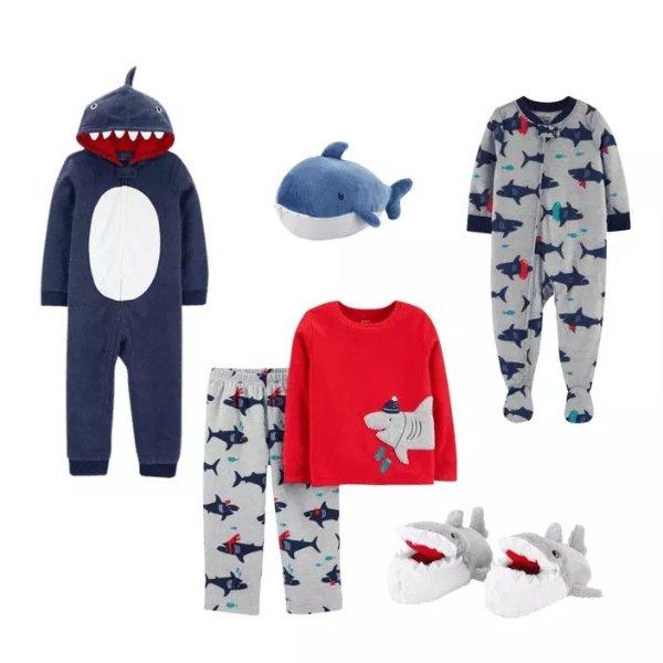 男童鲨鱼系列,以小童套装为例
