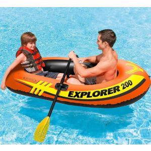 $12.49(原价$33)Intex Explorer 双人充气橡皮艇清仓价,说走就走的划水之旅