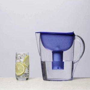$24.11(原价$37.47) 带一个滤芯近期低价:Brita Pacifica 滤水壶 10杯水量 每日饮健康好水