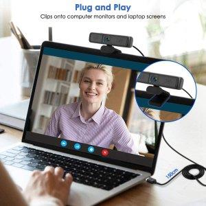 $33.99MECO 1440P 2K高清摄像头 内置麦克风 隐私遮挡板