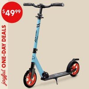 全部$49.99 高性价比款限今天:LaScoota 儿童踏板车特卖 单排轮,更练平衡感
