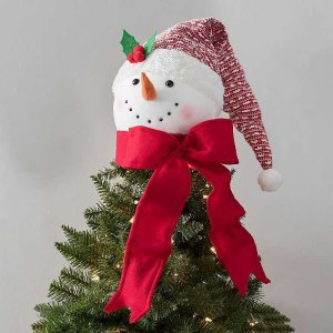 Snowman with Knit Hat Tree Topper