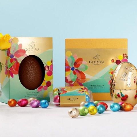 无门槛8.8折+满£40送£12巧克力+免运费砸彩蛋:Godiva 官网 好吃的高端奢华巧克力全站热促