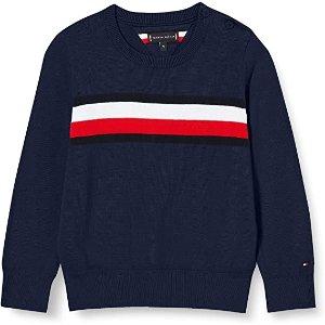 低至€29.67Tommy Hilfiger 童装保暖套头衫 get美式休闲感