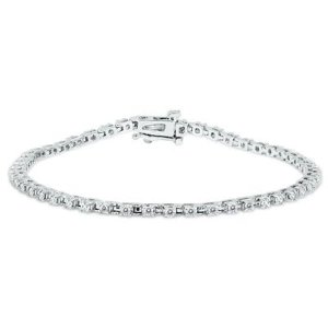1 Carat TW Diamond Tennis Bracelet in 14K White Gold