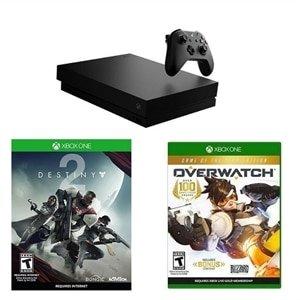 $514起 再送$100礼卡Xbox One X 1TB 游戏主机 + 火热游戏套装 超值热卖