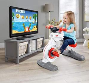 史低价 $99.97(原价$199.99)Fisher-Price 游戏学习运动一体室内健身单车