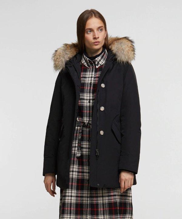 毛毛保暖大衣