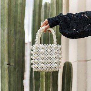 $55.99 5色可选Miuco 珍珠收个编织小手袋 泫雅style