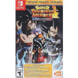 $39.82 (原价$59.99)《超级龙珠英雄 世界任务 英雄版》Switch 实体版 卡牌对战类