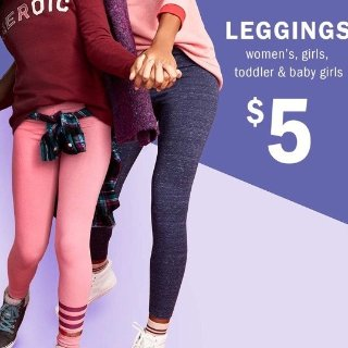 All $5Today Only: Leggings @ Old Navy