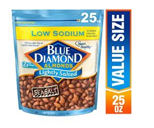 $5.14Blue Diamond Almonds, Low Sodium Lightly Salted, 25 Ounce