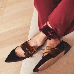 折扣区低至4折+额外8折女神范儿穆勒鞋 乐福鞋好价特卖 收Bally、Proenza Schouler
