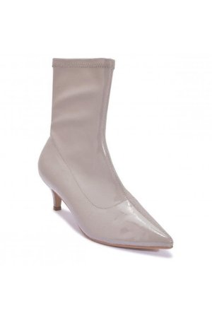 Truffle Collection Patent Kitten Heel Boot
