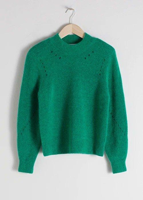 Structured Alpaca Wool Blend Sweater