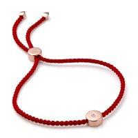 Monica Vinader 镶钻玫瑰金小红绳