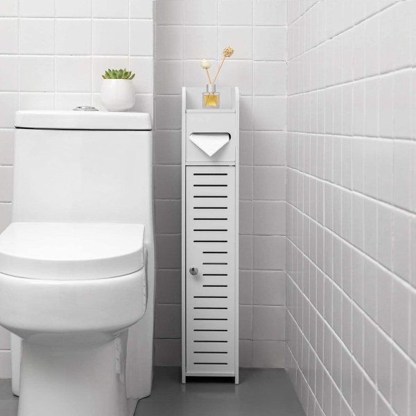 TuoxinEM 带门浴室储物角柜卫生间收纳柜 31.5''