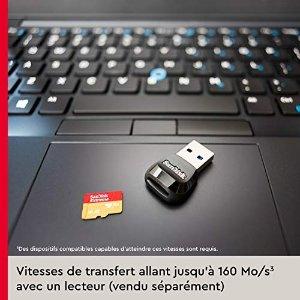 SanDisk5.2折,带 USB 3.0 读卡器64 GB 微型 SDXC 存储卡 + SD 适配器