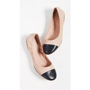 Tory Burch经典双色芭蕾鞋