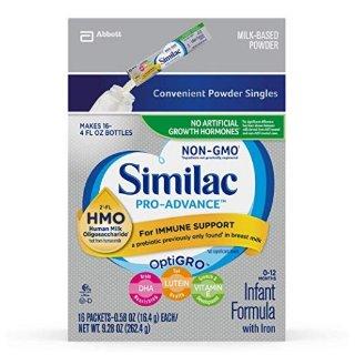 Similac Pro-Advance Non-GMO Infant Formula, Powder Stickpacks, 32 Count @ Amazon