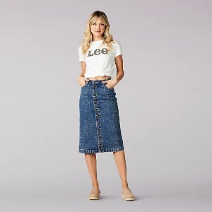 Women's Vintage Modern High Rise Midi Skirt | Lee