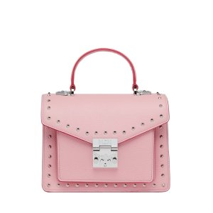 MCMPatricia Satchel in Studded Outline Leather
