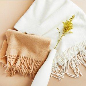 $50起 亲肤超柔软 空调间必备State Cashmere 新款羊绒围巾上线
