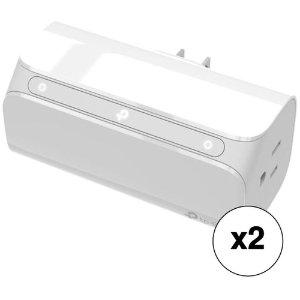 $44.99 (原价$59.99)TP-Link HS107 WIFI 2口 智能插座 2个装