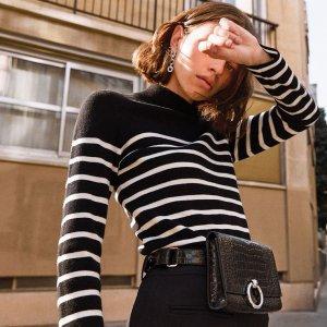 全场5折 €97收衬衫连衣裙Claudie Pierlot Last Chance大促区热卖 巴黎风女孩的量身定制
