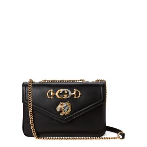 GucciBlack Rajah Leather Shoulder Bag